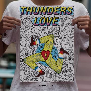 poster filippo fiumani for thunder love