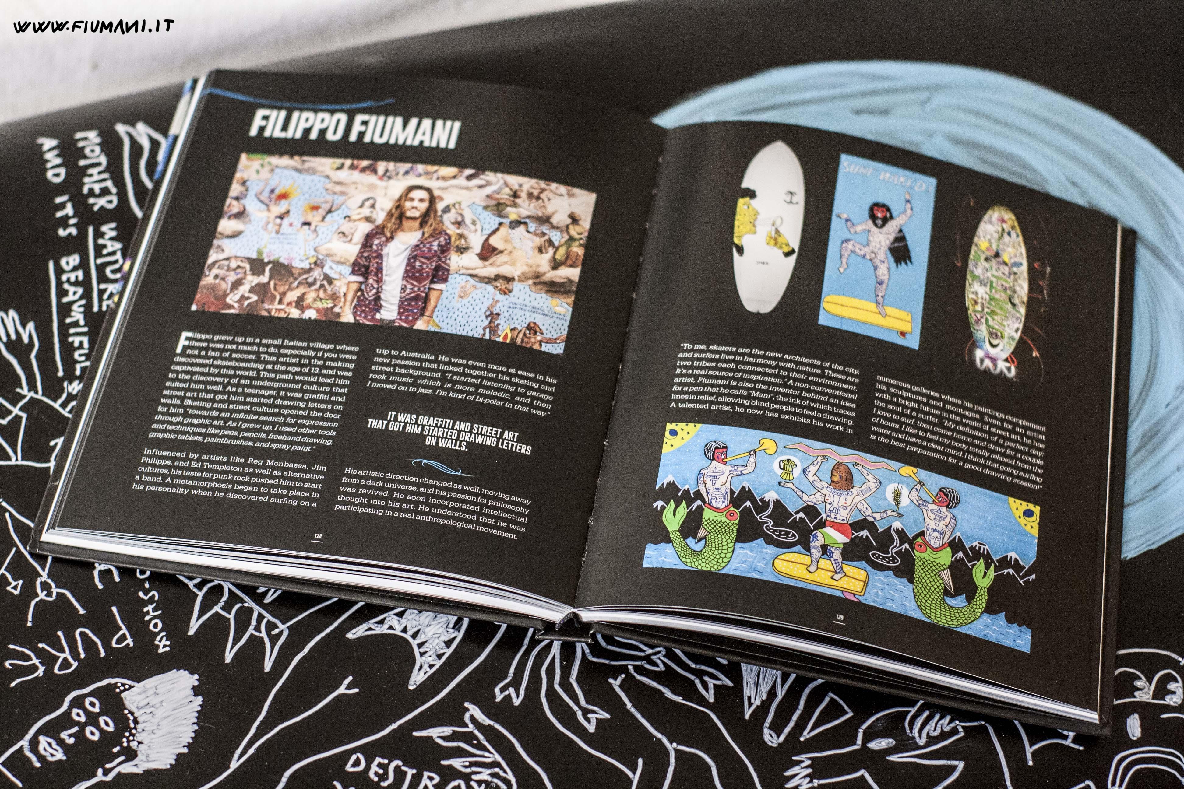 Filippo Fiumani aka MANI | MANI on SURFartwork book by POSCA